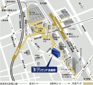 ホテルブリランテ武蔵野地図