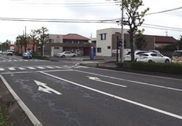 安堀太田町クリニック前面道路