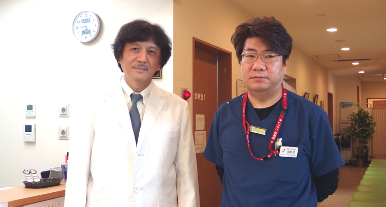 北上尾クリニック院長中野琢巳先生、看護部課長・ 事務長 田邉昇さん